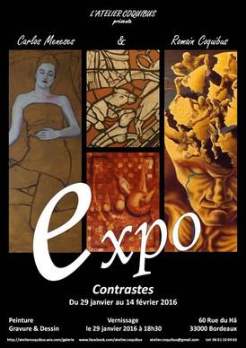 "Exposition ""Contrastes"" de R. Coquibus et C. Meneses (France)"