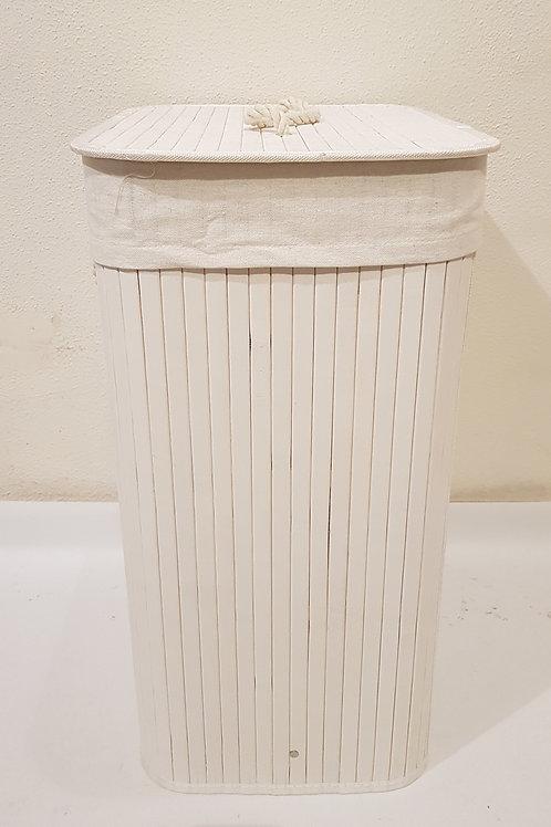 Cesto ropa bamboo blanco