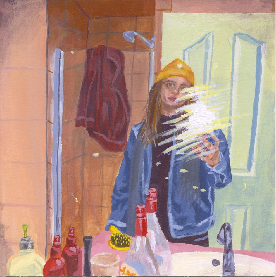 Sad Bathroom Selfie
