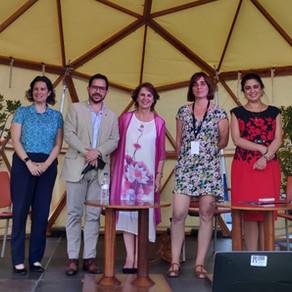Rosalía y Claudia Arteaga cumplieron agenda en España