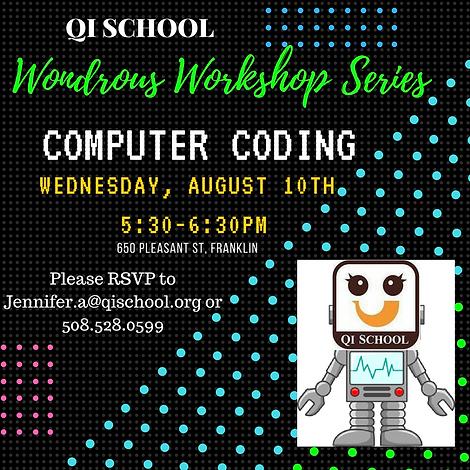 Coding and Robotics Workshop @QI SCHOOL