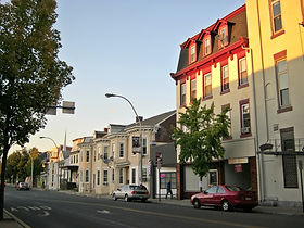Downtown city street in Lebanon, Pennsylvania