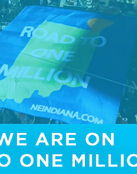 Road to One Million logo on flag in NorthEast Indiana