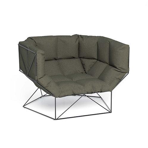 FoxHole 120 - Kvadrat Steelcut armchair