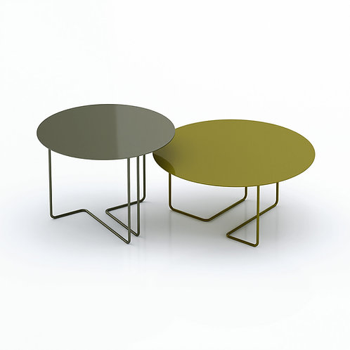 Ferro3 65/55 outdoor round side tables
