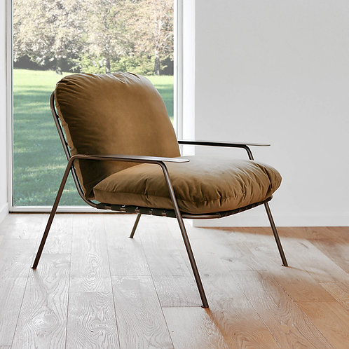 Noya indoor velvet lounge chair