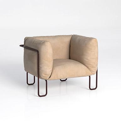 Fargo Soft 80 - indoor Leather armchair
