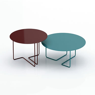 Ferro3 65/55 indoor round side tables