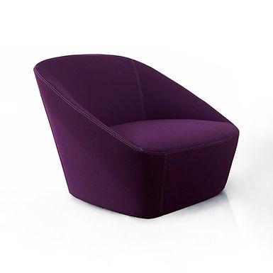 Bucket 90  armchair - Kvadrat violet felt