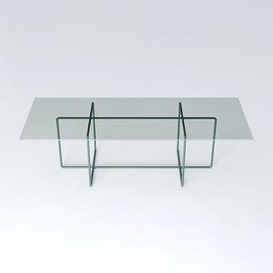 002.09 XP crystal table - coated frame