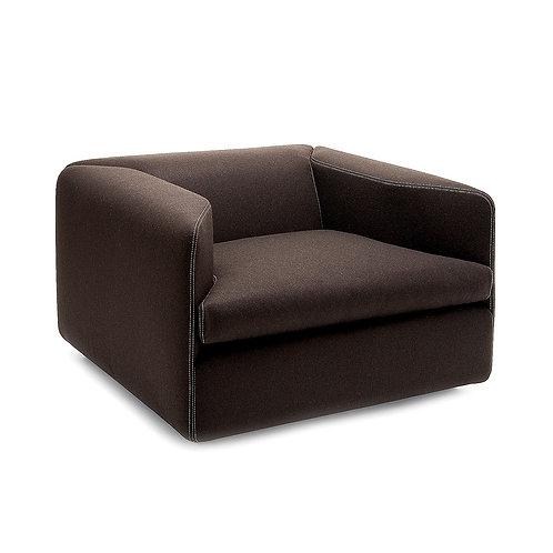 Open felt armchair