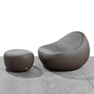 Baby Flirtstone armchair & footstool - eco Leather