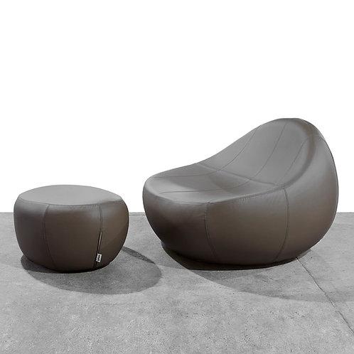 Baby Flirtstone eco leather armchair & ottoman