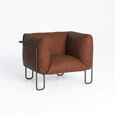 Fargo Soft 80 - tobacco leather armchair