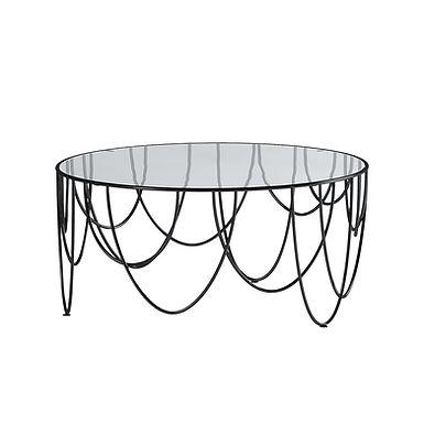 Drapery 80 round side table
