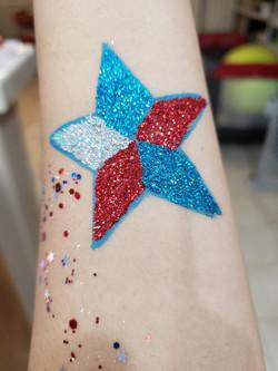 Star glitter glaze/festival glitter