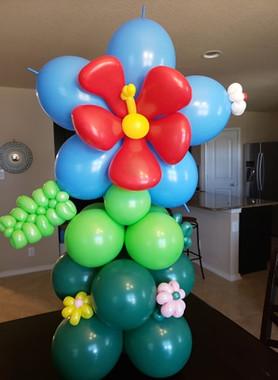 Hibiscus arrangement for a birthday