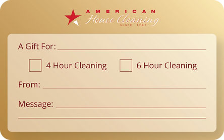American Cleaning CardsFront and Back RE