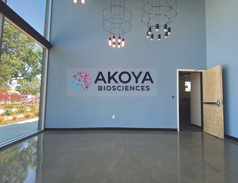 Akoya Bioscience Logo Wall- Acrylic-with