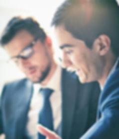 Männer in einem Meeting