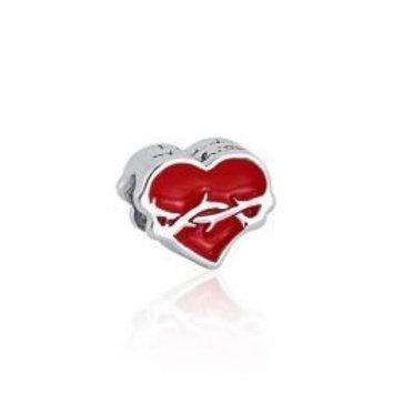 Charm Coração espinhos
