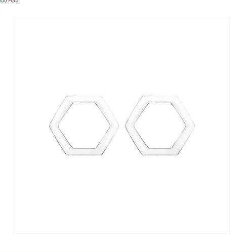 Brinco Hexagonal Vazado