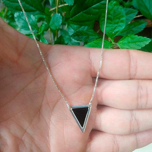 Colar Triangulo Ônix
