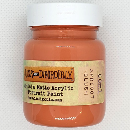 IndigoBlu Junk and Disorderly - Acrylic Paint - Apricot Blush (Matte - 60ml)