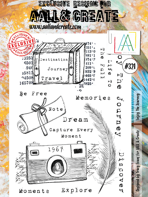 AALL and Create A4 Stamp #321 - Enjoy the Journey