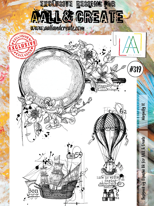 AALL and Create A4 Stamp #319 - Magnify It
