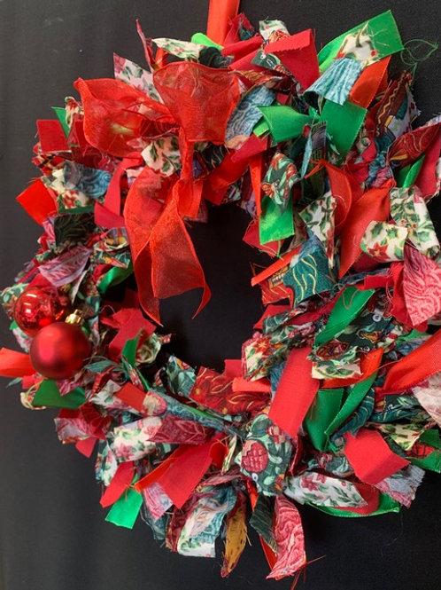 Fabric Tied Christmas Wreaths - Friday 19th November