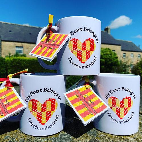 Proudly Northumbrian - My Heart Belongs to Northumberland Mug