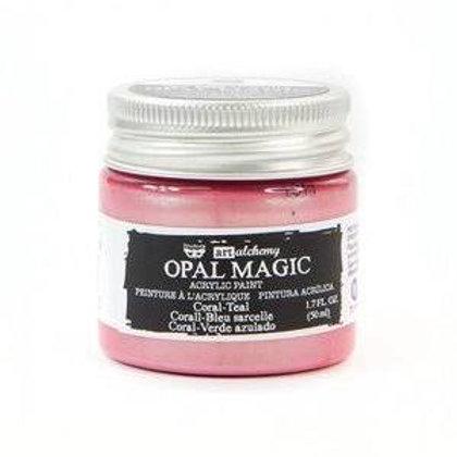 Art Alchemy Opal Magic Acrylic Paint - Coral - Teal