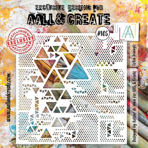 AALL and Create Stencil #105 - Lotza Triangles