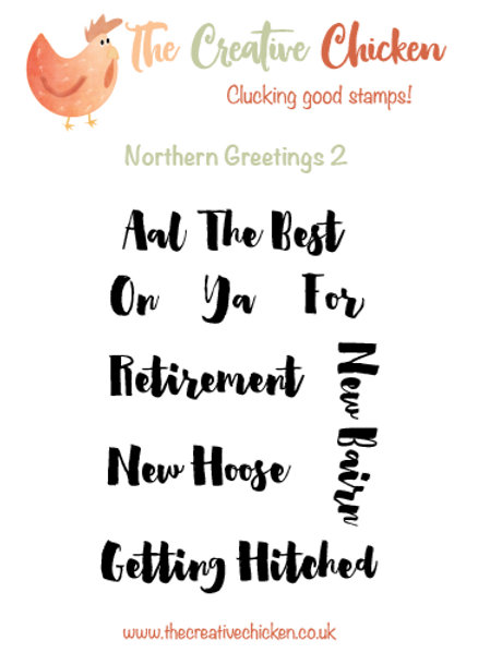 The Creative Chicken 'Northern Greetings 2' Rubber Stamp Set