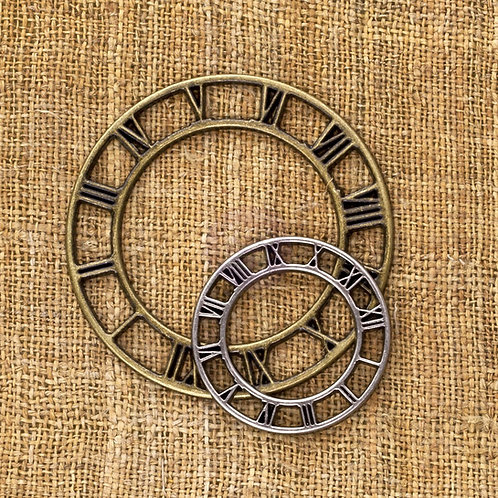 Finnabair Vintage Trinkets - Mini Clock Faces