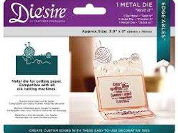 Die'sire Edge'ables 'Knit It' die