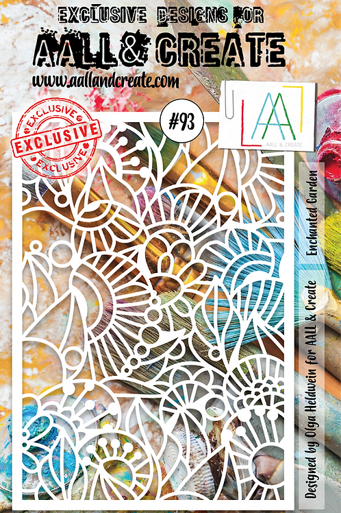 AALL and Create Stencil #93 - Enchanted Garden