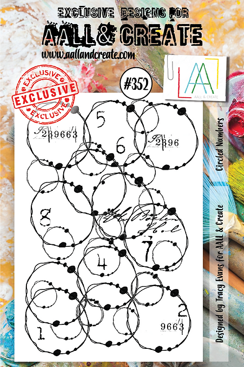 AALL and Create A7 Stamp Set #352 - Circled Numbers