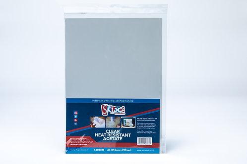 Heat Resistant Acetate - 5 x A4 sheet
