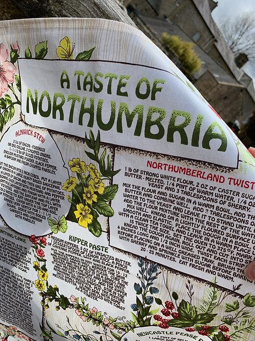 A Taste of Northumbria Souvenir Tea Towel
