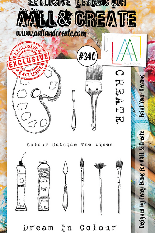 AALL and Create Stamp Set #340 - Paint your Dreams