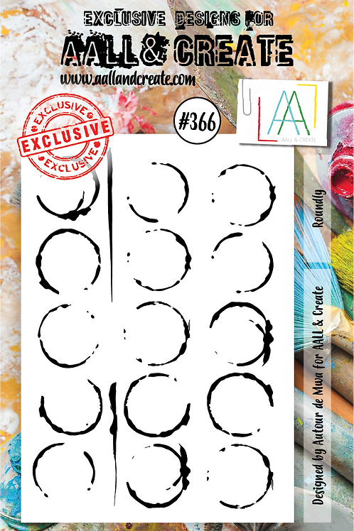 AALL and Create A7 Stamp Set #366 - Roundly