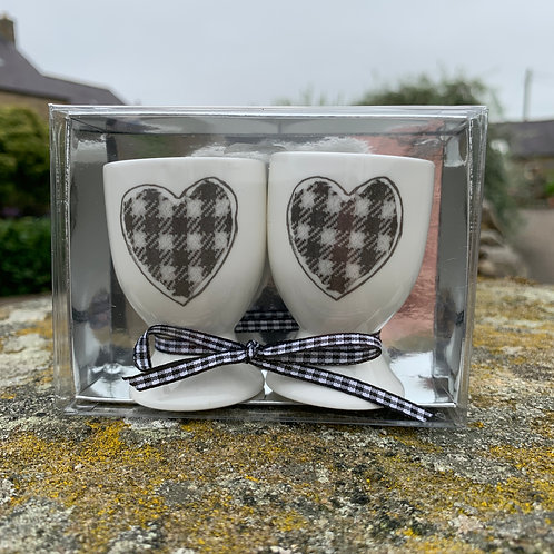 Pair of Egg Cups from The Northumbrian Tartan Co