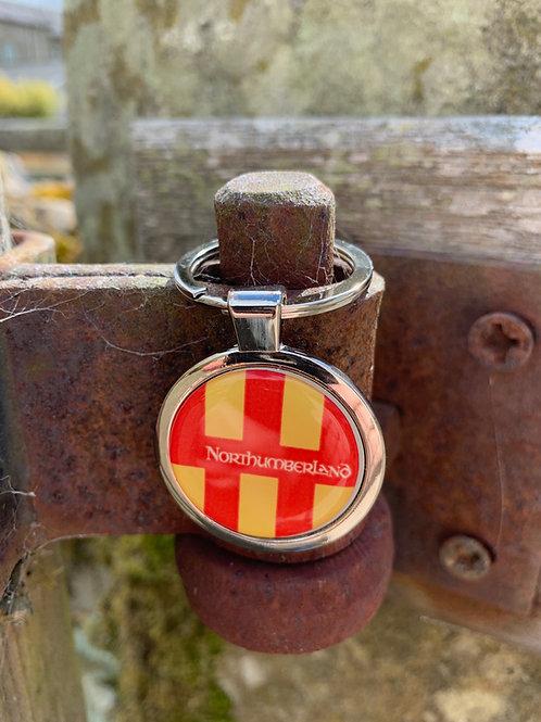 Northumberland Flag Key Ring