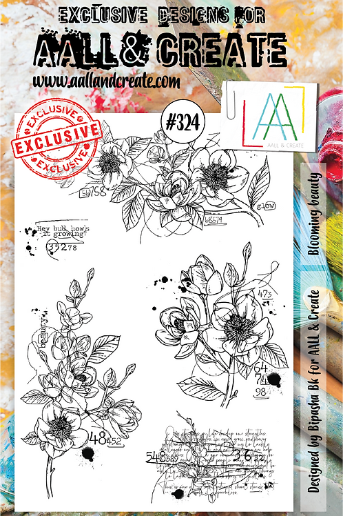 AALL and Create A5 Stamp Set #324 - Blooming Beauty