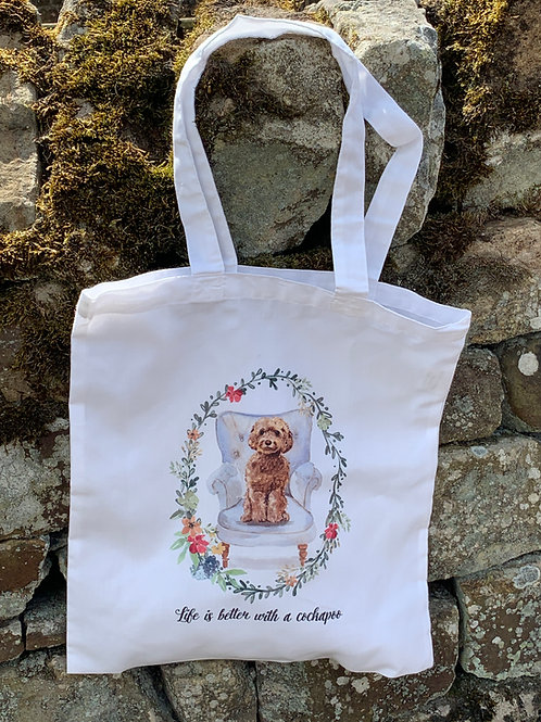 """""""Life is better with a...""""  Tote Bag (2)"""