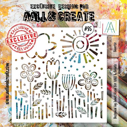 AALL and Create Stencil #95 - Sunrise