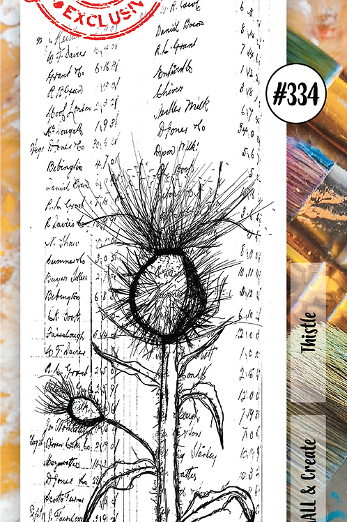 AALL and Create Border Stamp #334 - Thistle