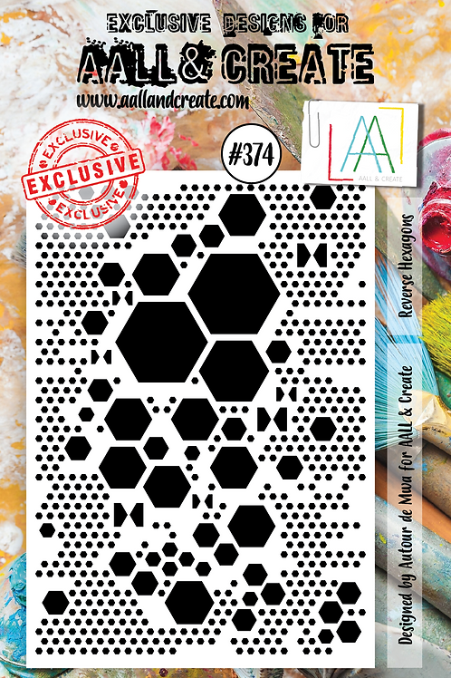 AALL and Create A7 Stamp Set #374 -Reverse Hexagons